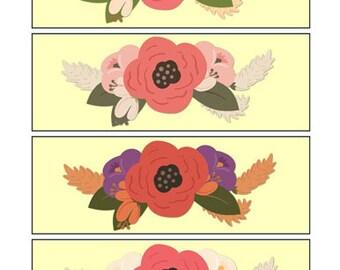 Flower Bookmarks 3