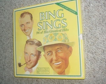 SEALED Readers Digest LP Record box set Bing Crosby sings 96 of his greatest hits SEE Add