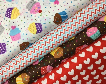 6 FQ Sea and Sun Bundle, Ann Kelle for Robert Kaufman Quilitng Cotton