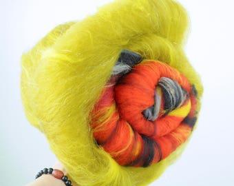 Isildur's Bane/Sauron - DUO - Merino/Romney Wool Art Batt 8.7oz