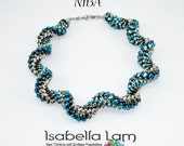 NIBA NIB BIT  Beadwork Necklace Spiral Pdf tutorial instructions for personal use only