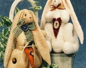 On Sale 20% Off Cloth Doll E-Pattern 10in Cute Sitting Bunny E-Pattern