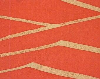 Vintage haori S446,  orange silk