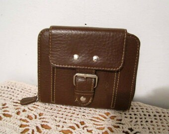 Brown Non leather wallet cards and change women wallet