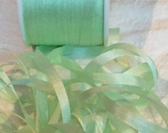 Gorgeous 7mm Mint silk ribbon ~ 5 yards #VAB154