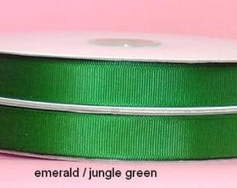 Grosgrain 5/8 inch x 100 yards EMERALD...On Sale Now..25% Off