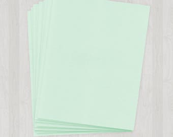 100 Sheets of Text Paper - Mint and Light Green - DIY Invitations - Paper for Weddings & Other Events