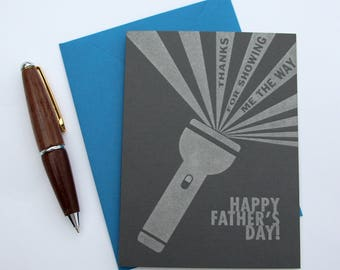 Thanks For Showing Me The Way, Happy Father's Day - Greeting Card