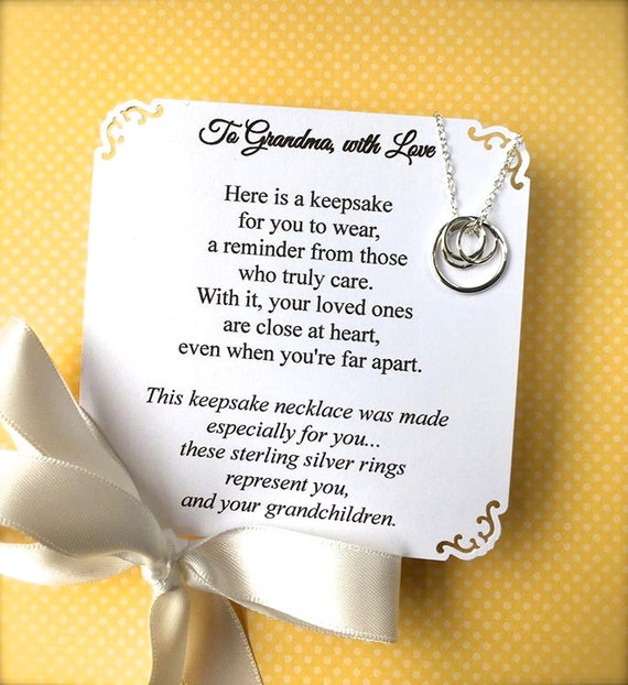 Grandma necklace poem card included grandmother jewelry for Grandmother jewelry you can add to