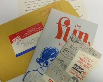 Vintage Cookbooklets from Red Star Yeast in Original Mailing Envelope