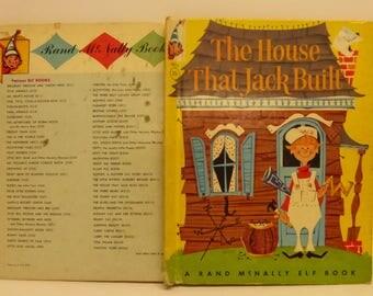 Vintage Tip Top Elf Book The House That Jack Built Illustrated by Anne Sellers Leaf