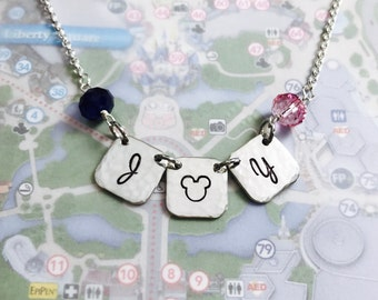 Mouse Joy - Disney Necklace - Mickey Mouse Banner Necklace