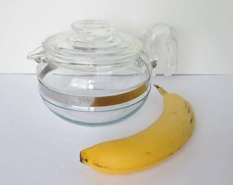 Pyrex Tea Pot Flameware 6 Cup #8446B Vintage Glass Retro Kitchen Carafe Kettle teapot