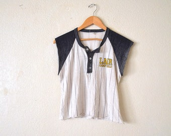"1980's ""Lair, Camp Gold"" Paper Thin Baseball Style Shirt"