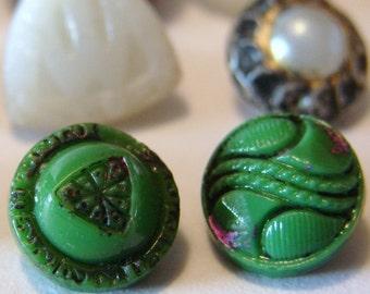 Fifteen Vintage Glass Buttons