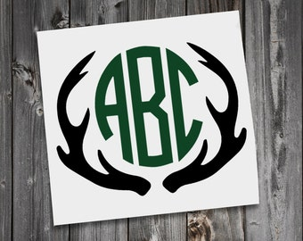 Deer Antler Monogram Antler Monogram Decal Deer Antler - Custom car decals nz   how to personalize