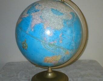 Vintage World Globe Crams Imperial