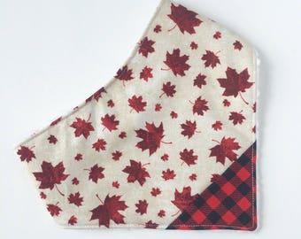 Canada 150 Bib - Bandana Bib - Baby - Baby Bandana Bib - Drooling - Baby Bib - Canada Bib - Gift for Baby - Canada 150 - Maple Leaf Bib