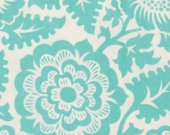 Blockprint Blossom Aqua  - Modernist - Joel Dewberry - PWJD137.AQUAX - Quilters Cotton