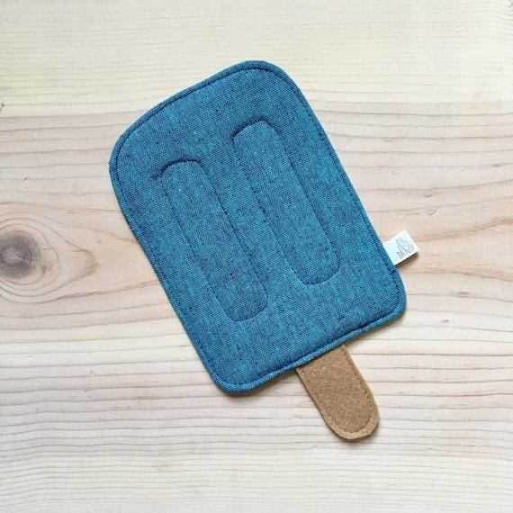 Blue Raspberry Crinkle Popsicle