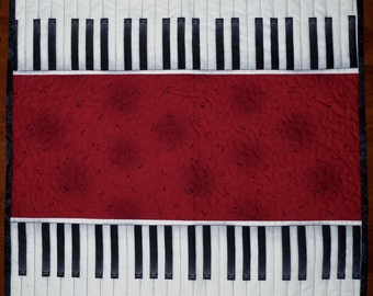 Quilted Piano Key, Table Topper