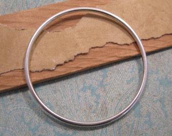 Grande Open Frame Hoop in Antique Silver by Nunn Design