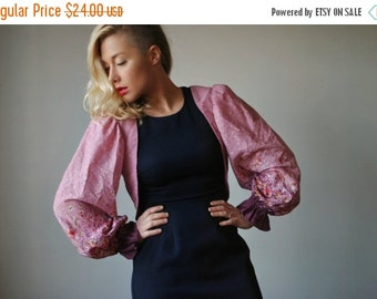 ON SALE 1970s Summer Wildflower Bolero, Size Extra Small