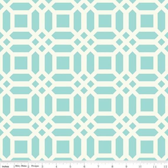Aqua Home Decor Fabric Vivid Lattice Riley Blake Cotton Duck 55 56 Wide Sold By The Yard From Apolkadotpeony On Etsy Studio