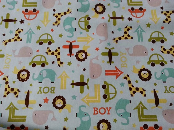 Cute boys home decor fabric cotton duck 55 56 wide oh for Decor 55 fabric
