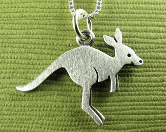 Tiny kangaroo necklace / pendant