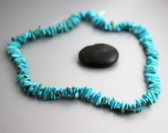 Royal Beauty Turquoise Beads - Nugget Strand - Royal Beauty Turquoise - 8 or 16 Inches