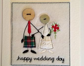 Wedding Card - Mr & Mrs (Kilt)