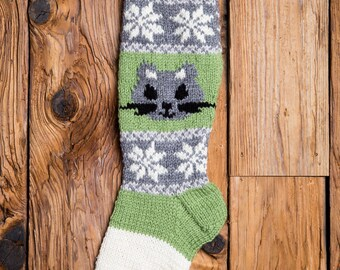 Squirrel Stocking, Christmas Stocking, Christmas Stocking Patterns, Christmas Stocking Design, Family Stockings, Christmas Knitting, Forest