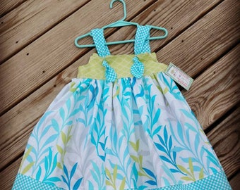 Beach Dress - Sea Grass - Aqua Dress - Birthday Dress - Knot Dress -  Groovy Gurlz