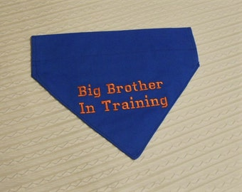 XL Ready to Ship Big Brother In Training Dog Bandana COLLAR Style