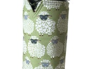 French Press Coffee cosy,  Coffee Pot Cozy, Coffee cosy, Sheep in Moss Green, Reversible Coffee Cosy