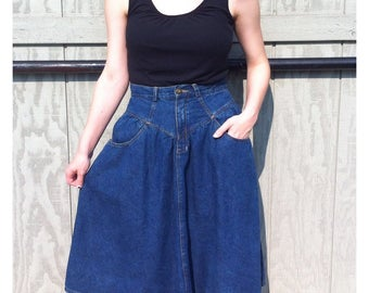 Jordache Denim Prarie Midi Skirt