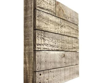 12x12 Reclaimed Wood Shadow Box , Salvaged Rough Sawn Timber Pallet, Barnwood Blank Sign