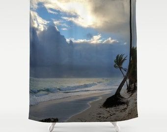 Shower Curtains, Shower Curtain Bathroom Photography Ocean Sunset Sea Photo 20 beach by L.Dumas