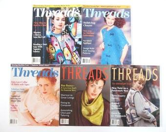 Vintage 1995 Threads Magazine, No. 57 to 61