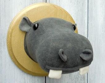 Hippo Faux Taxidermy Home Décor