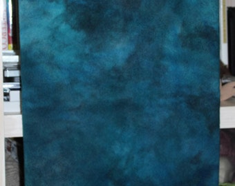 DEEP BLUE SEA abrashed, hand-dyed wool for rug hooking and penny rugs