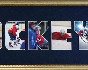 Hockey Custom Photo Collage 8x26 (frame not included in price)
