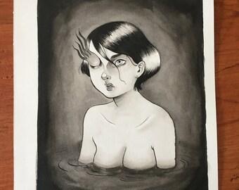 Original painting - Damn your eyes
