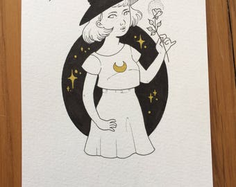 Original drawing - Little Witch