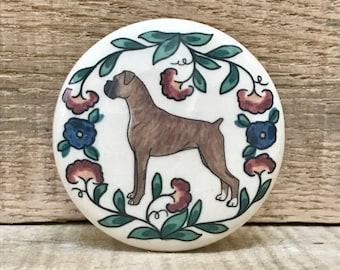 Boxer Dog Wine Stopper - Handmade