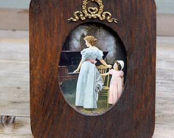 Antique  Wood Framed Print