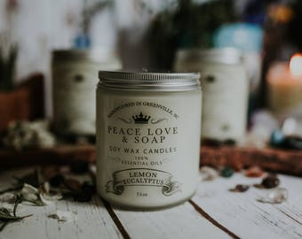 Lemon Eucalyptus Soy Wax Candle