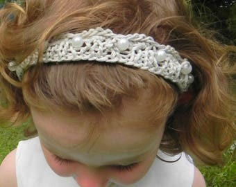 Silk and Pearl Tiara Knitting Pattern PDF