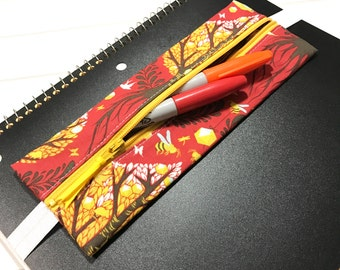 Tree of life, Planner band, Elastic band, Planner supplies, Happy planner cover, Tula pink fabric, Tree fabric, Filo fax cover, Zipper pouch